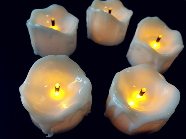 36pcslot Flameless Led Tea Light Candle Wtimer Burnt Wick Melted