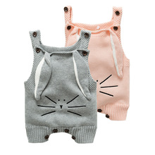 Baby Newborn Clothes Rompers Boys and girls Knit Cartoon Jumpsuits Toddler clothing 2017 Baby Cute Autumn Romper