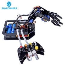 SunFounder Электронных Diy Робота-Манипулятора комплект 4-оси Сервопривода Управления Rollarm с Проводным Пультом Управления для Arduino Uno R3
