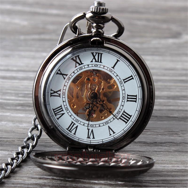 Vintage Սև մեխանիկական գրպանի ժամացույց - Գրպանի ժամացույց - Լուսանկար 3