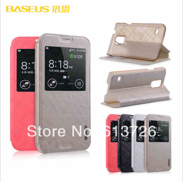 BASEUS Galaxy S5 SV i9600 Flip Leather Case Samsung G900 Mobile Phone Smart Cover - Shenzhen Green Electronics Co.,LTD store