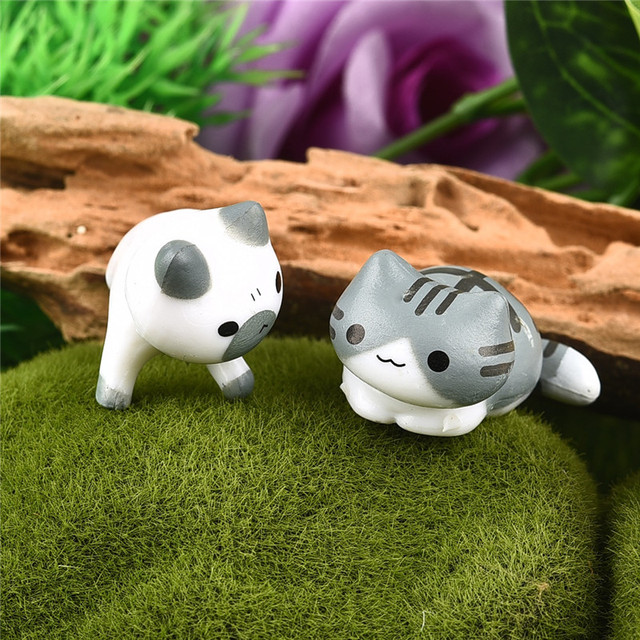 Fantasy Cartoon Cute 6pcs/ set Cat Fairy Garden Decoration Crafts Home Decor Fashion Micro Landscape Miniature Figurines 5