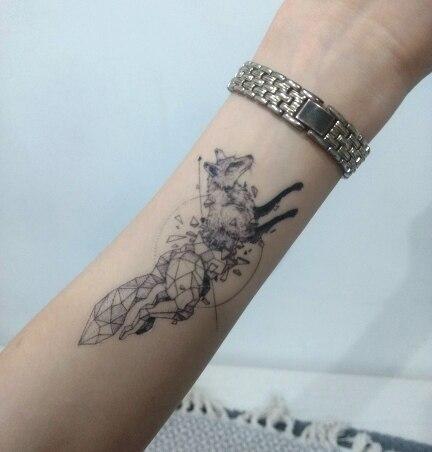 Geometric animal flash tattoo 1