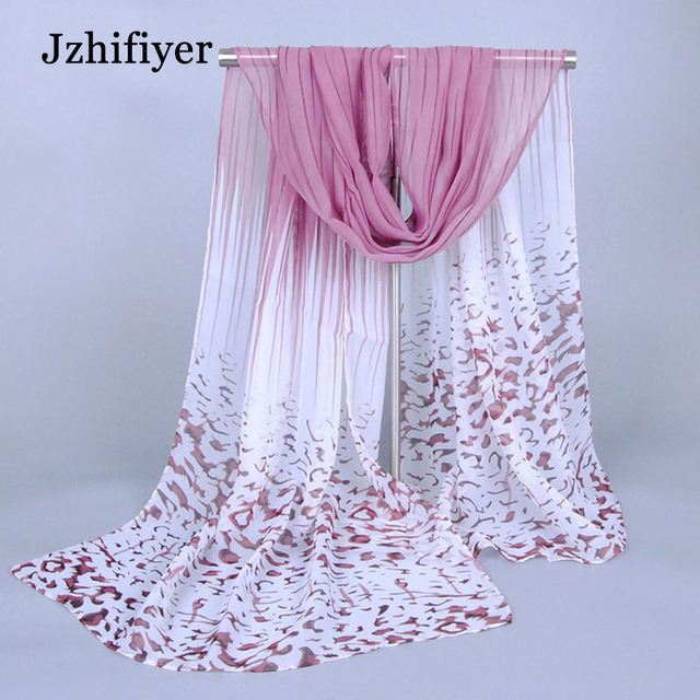 Châle en gros femmes écharpe d été couleur progressive imprimer en  mousseline de soie léopard cb3967b9c55