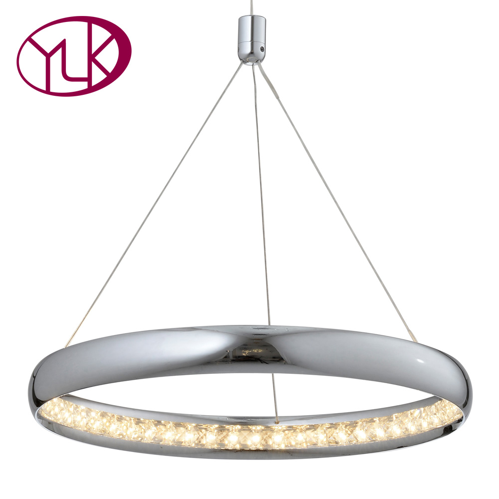 Youlaike Modern LED Chandelier Brief Hanging Crystal Light Fixtures High Quality Cristal Home Lamp