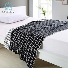 цены Smelov new handmade Geometric patterned cotton wool knitted thread blanket sofa car blanket photograph double side throw blanket