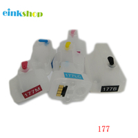 For Hp 177 Refillable Ink Cartridges With Chip For HP 3310 3110 3210 D7460 C5100 C5140