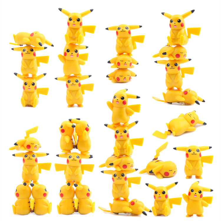 5 Pcs /lot Hot New Cute Figure Toys Mini Pikachu Pocket Monster Cute Action Figures Home Decor Toys For Children Vinyl Dolls