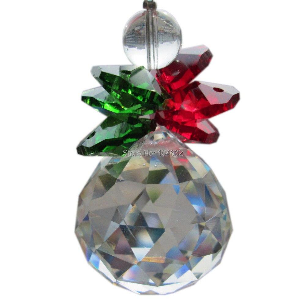 Feng shui 30mm crystal ball&14mm octagon beads healing crystals suncatcher wedding decorationcrystal chandelier parts 1866-1