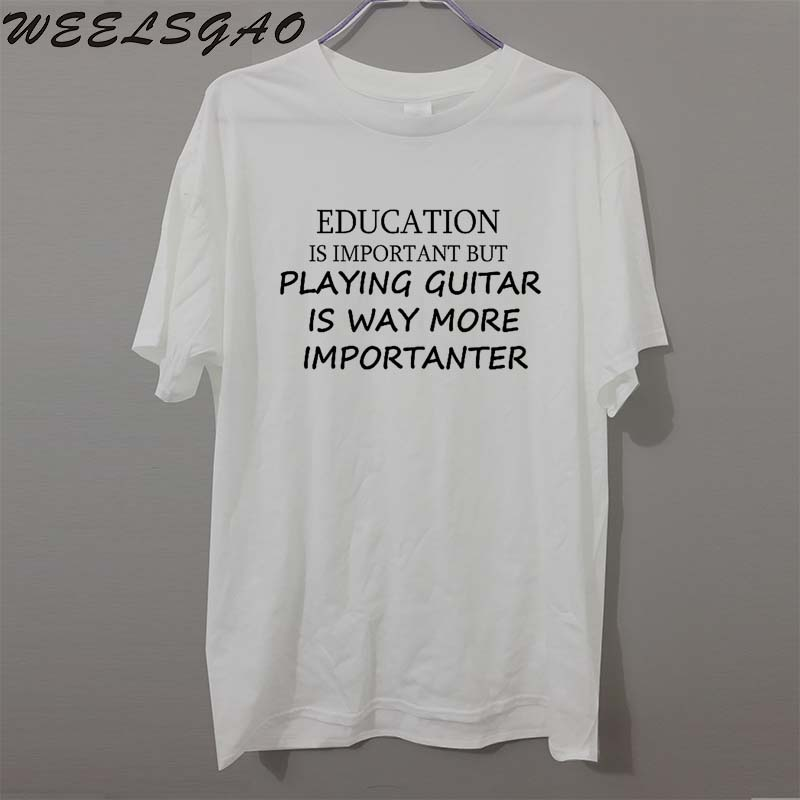6bd2db042d Education Guitar Music Gift Present FUNNY Joke humour PRINTED T shirt MENS T  SHIRT Great gift TShirt Tee Unisex-in T-Shirts from Men's Clothing on ...