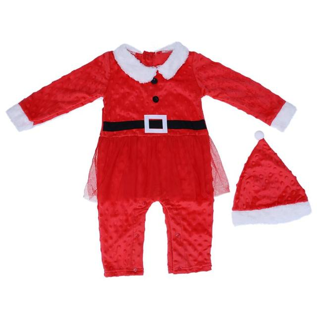 eb69c9617f6 2pcs baby clothes Christmas Gifts Clothing Autumn Winter Baby Boys Girls  Santa Claus Xmas Rompers