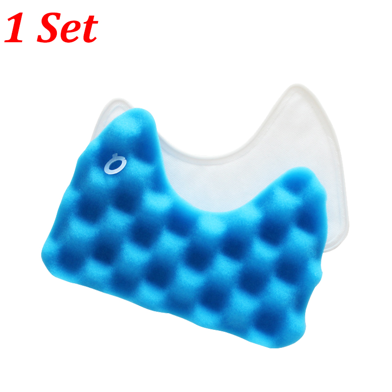 1PC Blue Sponge Hepa Filter & 1PC Cotton Filter for Samsung DJ97-00492A SC6520/30/40/50/60/70/80/90 SC68 Vacuum Cleaner Parts(China)