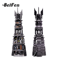 Movie Model Building Blocks Bricks Lord Of The Rings Tower Assembled Orthanc Set DIY Children Gift