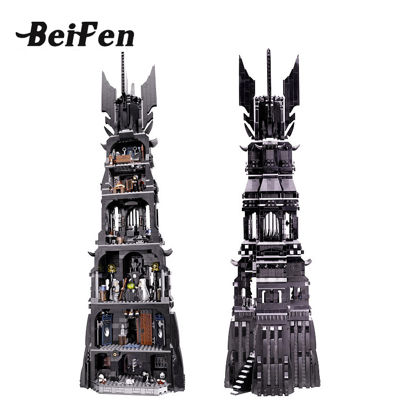 lepine Movie Building Blocks Bricks Lord of the Rings Tower Assembled Orthanc set DIY Children Gift Christmas Gift lepine 16010