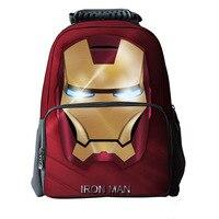 16 Inch Children Backpack Iron Man Bag School For Teenagers Cool Heroes Backpack Kids School Bags For Boys Mochila Menino