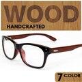 Fashion non-mainstream wood glasses frame myopia eyeglasses frame black plain reading computer glasses