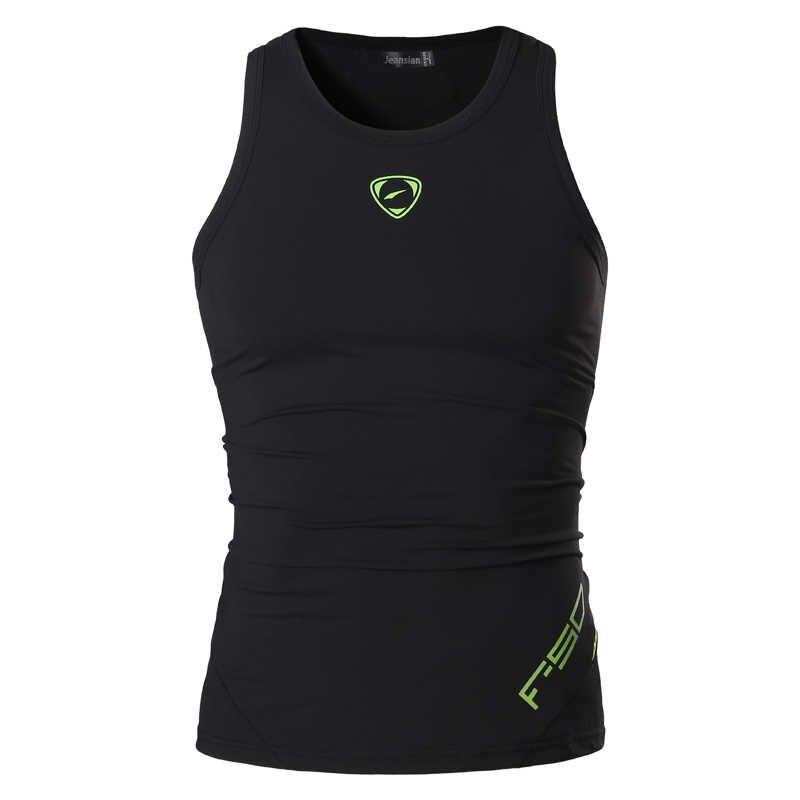 Jeansian esporte tanque topos tanktops camisas sem mangas correndo grym workout fitness compressão magro lsl203 black2