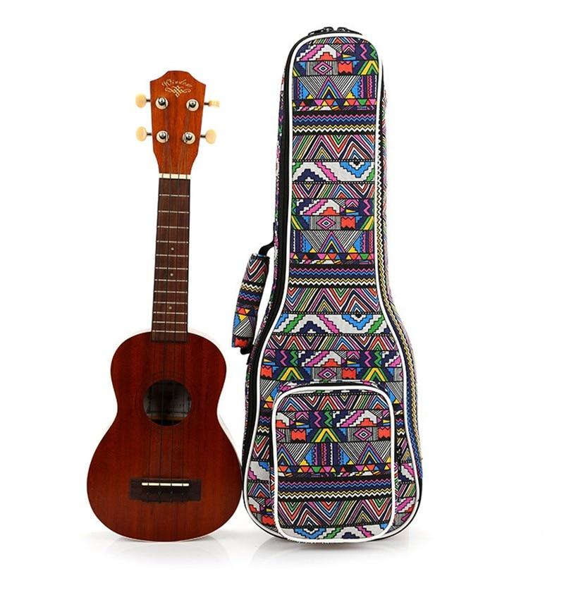 High Quality 21 inch soprano concert Padded Ukulele Bags Ukulele Soft Gig Bags Small Guitar Cases ukulele bag case backpack 21 23 26 inch soprano concert tenor ukelele black mini guitar accessories parts carry back soft gig
