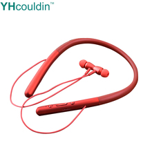 Bluetooth Sport Running Earphone  TF Card Stereo Sound Neckband Wireless Magnetic Earphones With Mic For Jogging awei g20bl magnetic bluetooth earphone cnc metal dual driver earphones wireless sport running bluetooth4 2 earphone