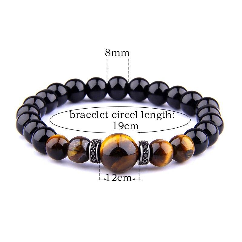 8 10 12 mm natural gemstone TIGERS EYE STONE BEADS Femme Homme Bijoux Bracelet