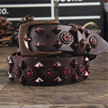 Cowgirl Rivet Women Belt Genuine Leather Punk Rock Belts For Women Metal Female Belt Wide Jeans Waist Ceinture Fomme MBT0290