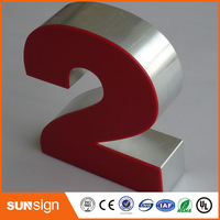 Outdoor Storefront Led Frontlit Resin Letter Signs