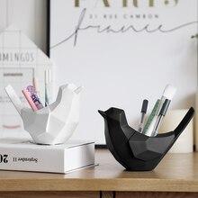 Birds decor Cute desk pen holder small Desk pen organiser home office organizer Desktop Storage bird decoration for home small desk