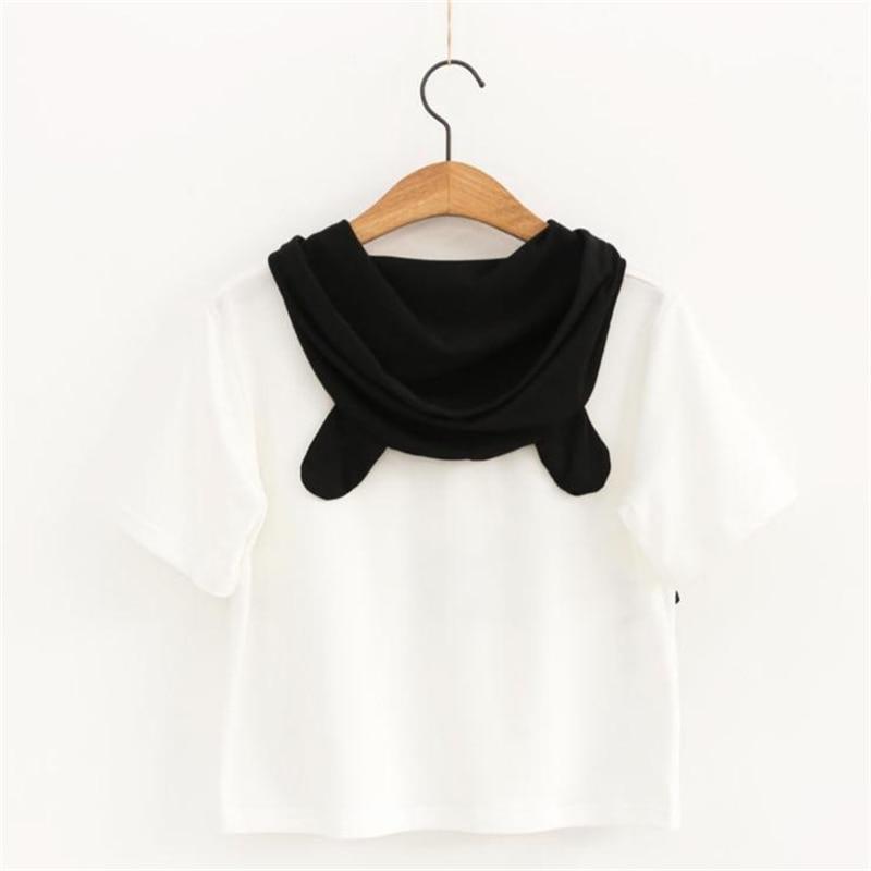 Kawaii Panda Hooded T Shirt 2