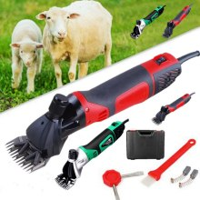 850W Doersupp 6 Speeds 850W Electric Sheep Shearing Clipper Scissors Shears Cutter Goat Clipper Machines 2400r/min US EU AU UK electric wool shear110 220v 350w electric clipper sheep goats shearing clipper shears