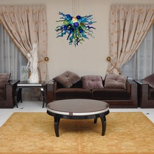 Free Shipping Source Pretty Villa Light Living Room Chihuly Style Chandelier Ceiling House Deco