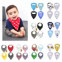 4Pcs Soft Baby Bibs Boy Girl Saliva Towel Dribble Triangle Bandana Feeding Drool Newborn Products
