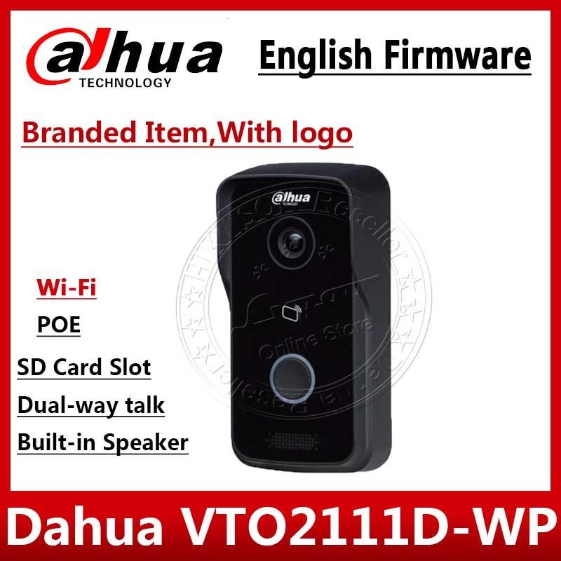 Güvenlik ve Koruma'ten CCTV Aksesuarları'de Dahua VTO2111D WP orijinal İngilizce sürüm P2P 1MP Wi Fi Villa Video interkom açık istasyonu logo ile gerek ekstra kargo title=