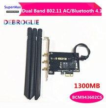 Çift bant 802.11 AC kablosuz wifi kartı BCM943602CS arabirim kartı tipi PCI E Bluetooth 4.1