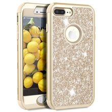цена на Bling Hard Case For iPhone 8 7 6 6S Plus Case Glitter Luxury Crystal PC Cover For iPhone 7 6 6s 8 Plus Case Silicone Cute Girls