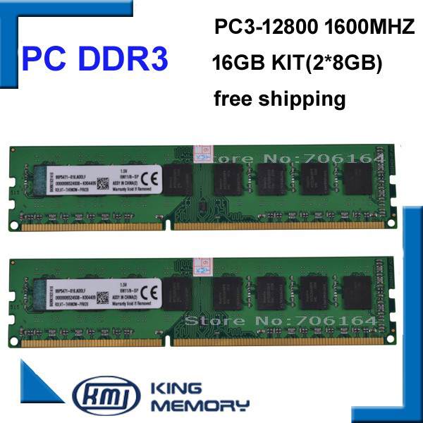 DDR3 16gb 1600Mhz 16GB (Kit of 2,2X ddr3 8GB) PC3-12800 Brand New work for all desktop mothebroard