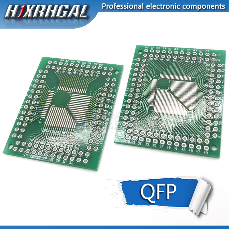 5 PCS FQFP TQFP <font><b>32</b></font> 44 64 80 100 LQFP zu DIP Transfer Board DIP <font><b>Pin</b></font> Board Pitch <font><b>Adapter</b></font> hjxrhgal image