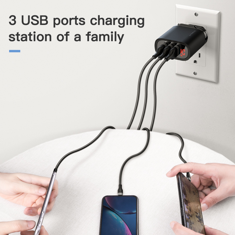 Image 2 - KUULAA Quick Charge 3.0 USB Charger 30W QC3.0 QC Fast Charging Multi Plug Mobile Phone Charger For iPhone Samsung Xiaomi Huawei-in Mobile Phone Chargers from Cellphones & Telecommunications