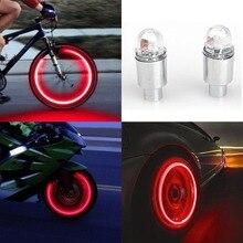 Bostar 2 pcs Super Power Luzes Lâmpada Pneu Muiticolor Auto Acessórios Da Bicicleta Da Motocicleta Neon Strobe LED Válvula do Pneu Caps #281366