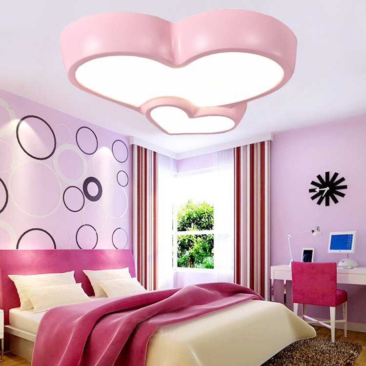 A forma di cuore romantico del fumetto ragazzi e ragazze led soffitto camera da letto - Letto matrimoniale a forma di cuore ...