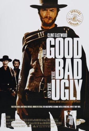 CHAUDE De Goede, De Slechte en de Lelijke (1966) Film Affiche, Clint Eastwood maison déco 24x36 pouces