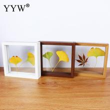 New Transparent Glass Photo Frame Creative Simple Cadre Wooden For Portraits High-Grade Gift Home Decor Framework