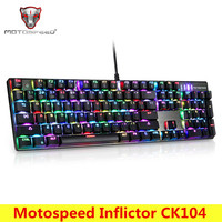 Motospeed Inflictor CK104 NKRO Gaming Mechanical Keyboard Ergonomic Virtual Keyboards With Backlight