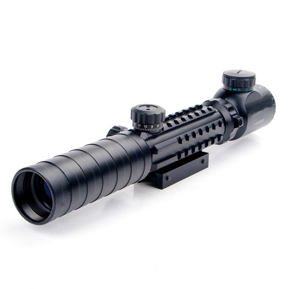Nuevo 3-9x32EG Riflescope Rojo y verde Iluminado Telémetro Retículo - Caza - foto 3