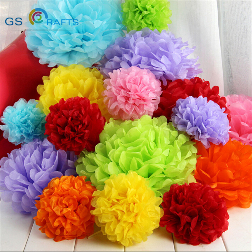 Wedding Decoration Events Accessories mixed sizes Pom Pom Tissue Paper Pompom Ball Party Supplies Baby Shower Birthday