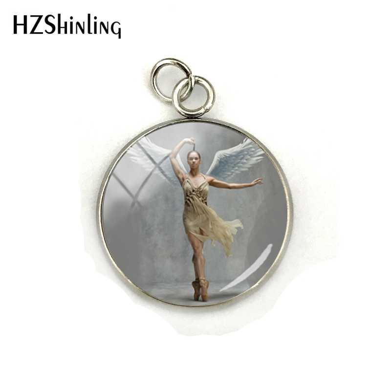 Gothic Balerina Gambar Yang Dapat Dicetak untuk Liontin Kaca Cabochon Dome Besi Tahan Karat Berlapis Pesona Kerajinan Tangan Perhiasan Aksesoris