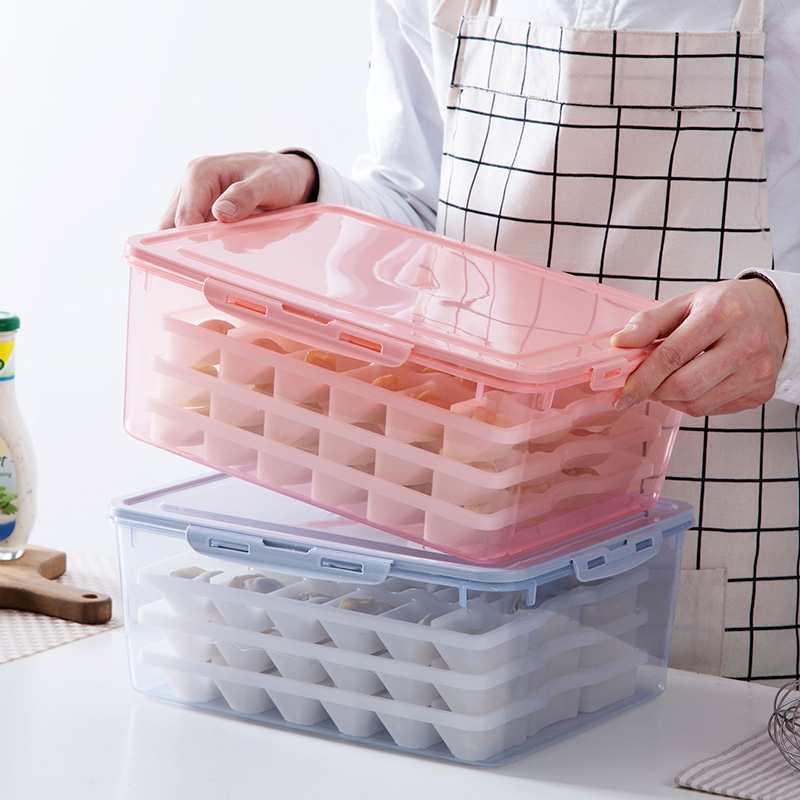 Multi-layer Dumpling Box Refrigerator Freezer Storage Household Frozen Dumpling Storage Wonton Box