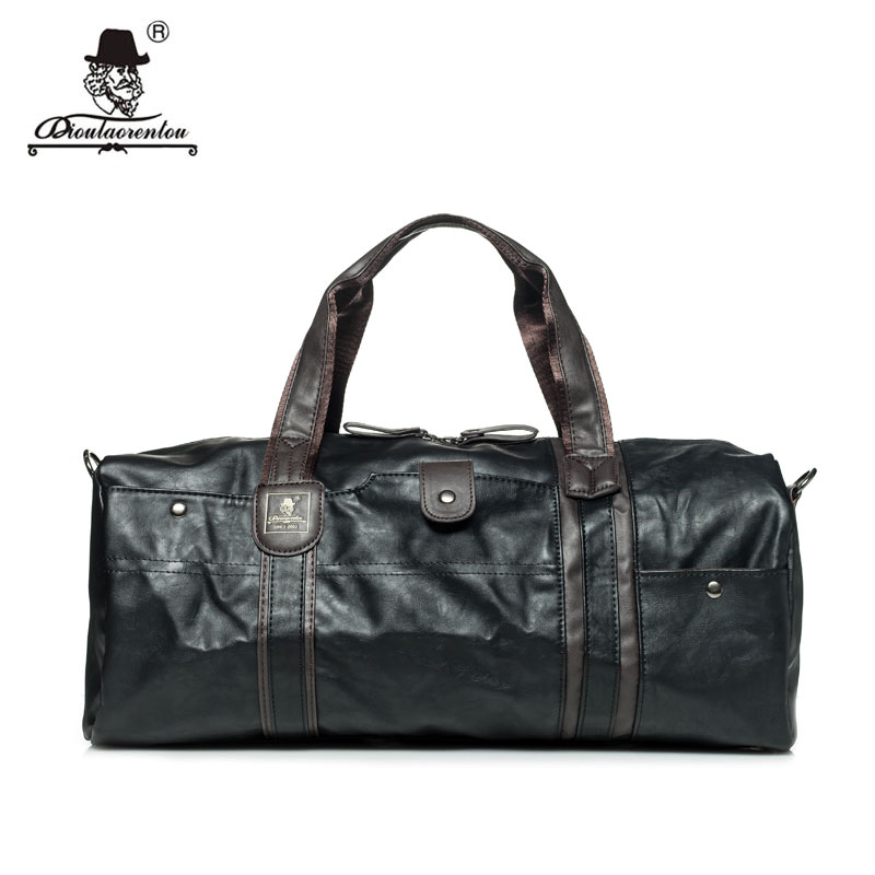 Vintage Leather Travel Bag for Men and for Women