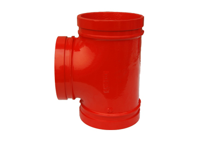FM approved ductile iron Red grooved Mechanical Tee pipe fitting-in Pipe Fittings from Home