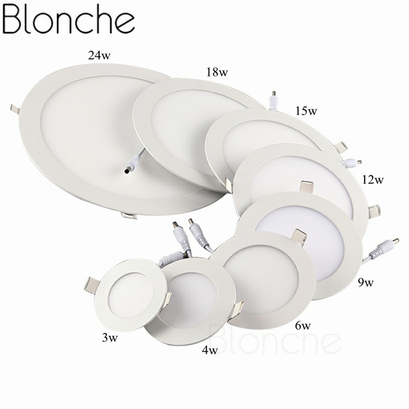 Blonche Led Ceiling Lamp AC85~265V Panel Light Round/Square 3W/6W/9W for Living Room Bedroom Kitchen Modern Home Decor Downlight