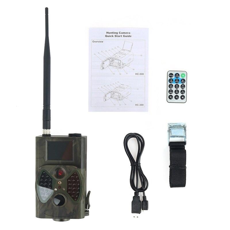 HC300M 12MP 1080P 940nm caméras de sentier MMS GPRS caméra de chasse de scoutisme photopièges caméras de chasseur caméra de Vision nocturne de la faune - 4